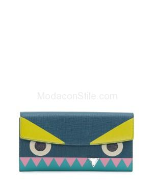 Fendi autunno inverno 2014 2015 Aqua Crystal Tooth Monster Continental Wallet