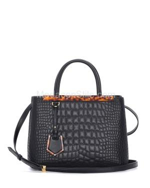 Fendi autunno inverno 2014 2015 Blac Croc Stitched 2Jours Mini Bag