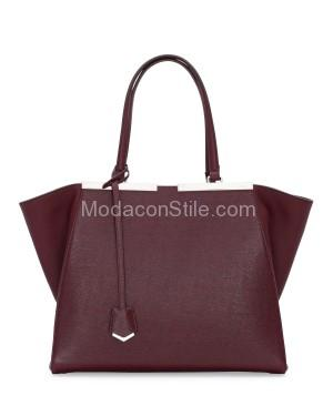 Fendi autunno inverno 2014 2015 Bordeaux 3Jours Tote Bag