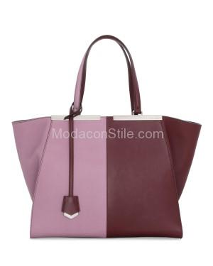Fendi autunno inverno 2014 2015 Bordeaux Lilac 3Jours Tote Bag