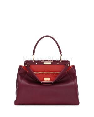 Fendi autunno inverno 2014 2015 Bordeaux Poppy Peekaboo Medium Bag