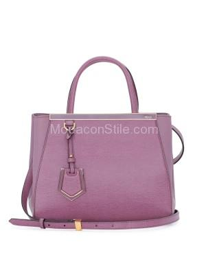 Fendi autunno inverno 2014 2015 Lilac 2Jours Mini Tote Bag