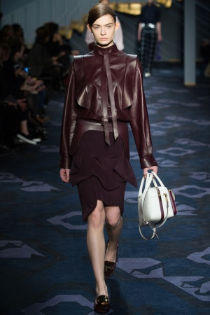 Giacca pelle Tod's autunno inverno 2014 2015