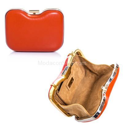 Giano box classic clutch red Fendi autunno inverno 2014 2015