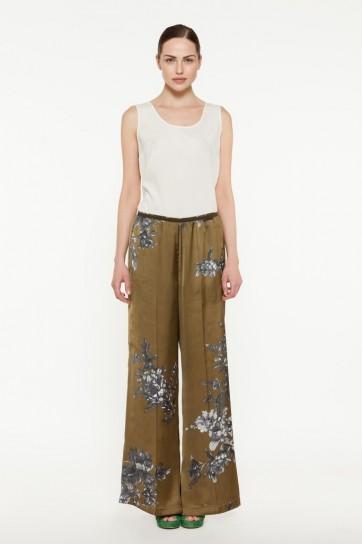 Pantalone in raso con fiori Twin Set primavera estate 2014