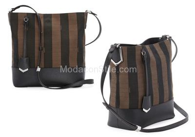 Pequin striped bucket bag Fendi autunno inverno 2014 2015