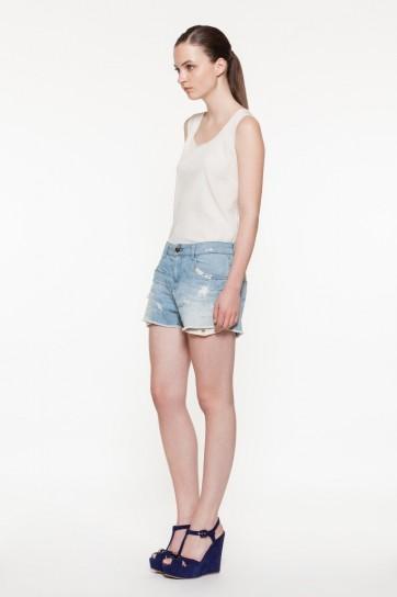 Shorts in denim Twin Set