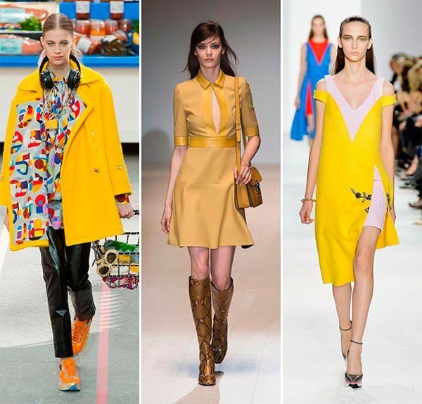 Tendenza colori autunno inverno 2014 2015 - giallo