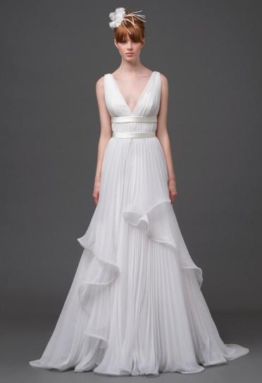Vestito bianco plissé Alberta Ferretti 2015