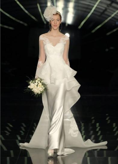 Vestito peplum da sposa Atelier Aimée 2015