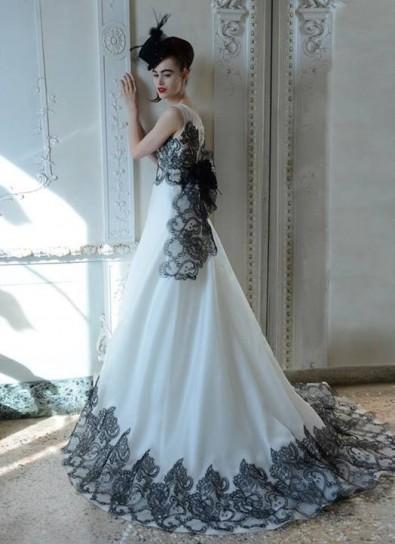 Vestito sposa bicolor Atelier Aimée 2015