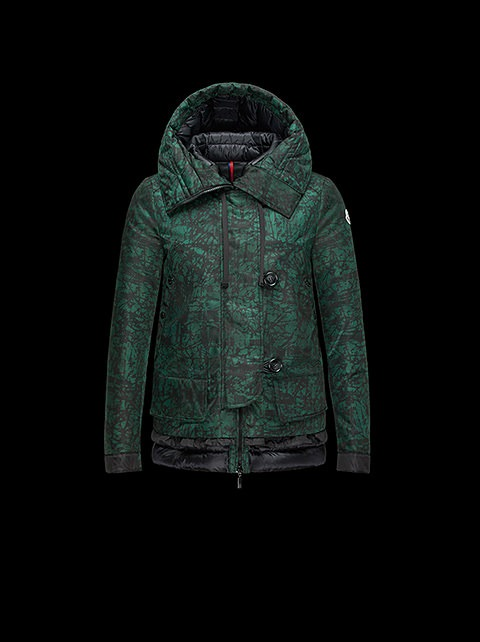Giubbotto verde stampato Moncler autunno autunno inverno 2014 2015