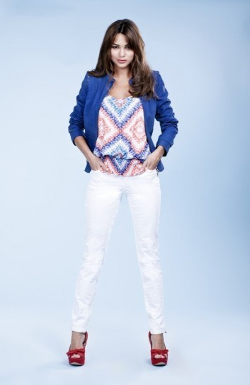 Pantalone skinny bianco Lavand