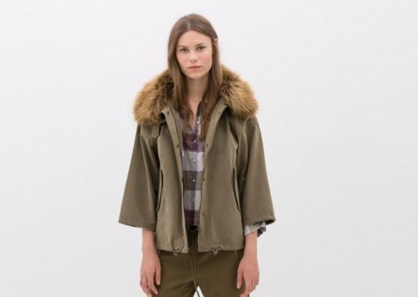Parka con collo in pelliccia Zara autunno inverno 2014 ...