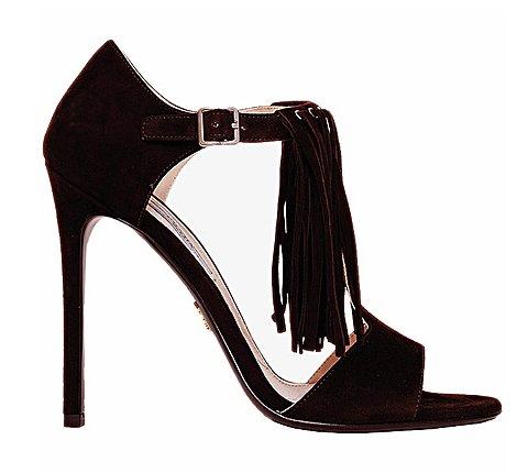 Sandalo con frange scarpe Prada autunno inverno 2014 2015