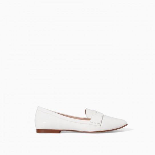 Slippers bianche Zara autunno inverno 2014 2015