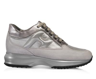 Sneakers silver metallic scarpe Hogan autunno inverno 2014 2015