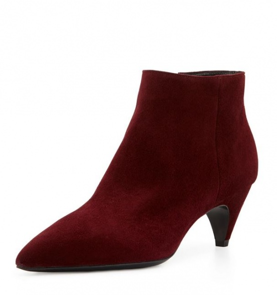 Tronchetti rossi scarpe Prada autunno inverno 2014 2015