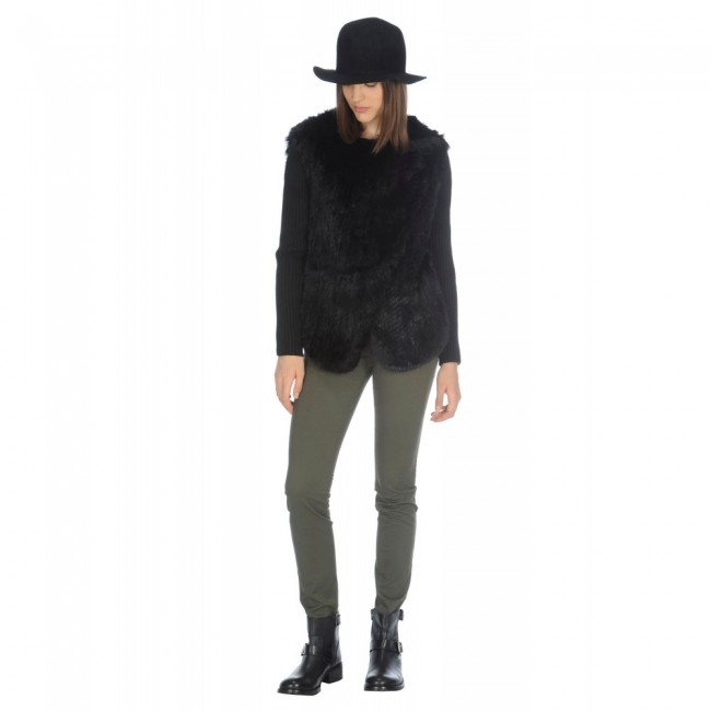 Giacca in lapin Stefanel autunno inverno 2014 2015