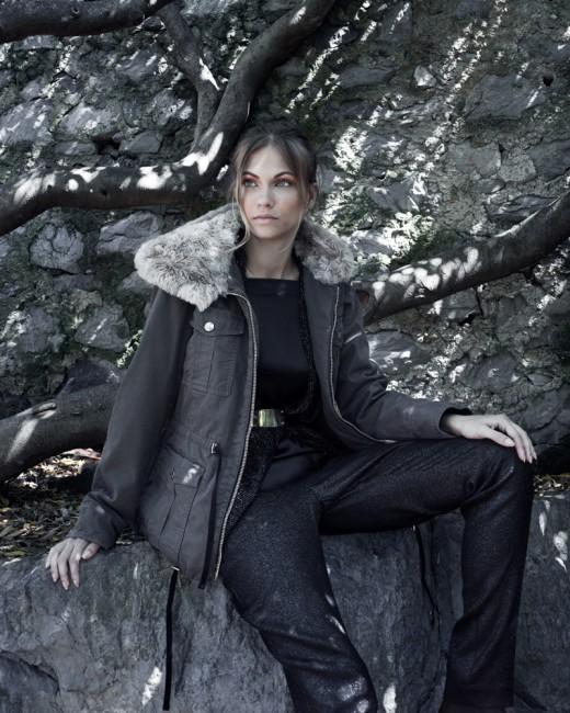 Giubbotto con collo in pelliccia Carla G autunno inverno 2014 2015
