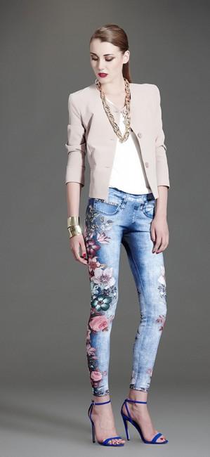Jeans fiori Artigli autunno inverno 2014 2015