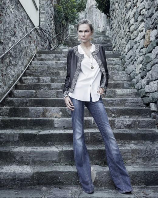 Pantaloni jeans a zampa Carla G autunno inverno 2014 2015