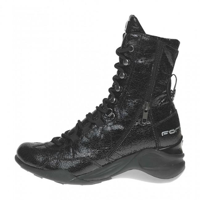 Anfibi neri Fornarina scarpe autunno inverno 2014 2015