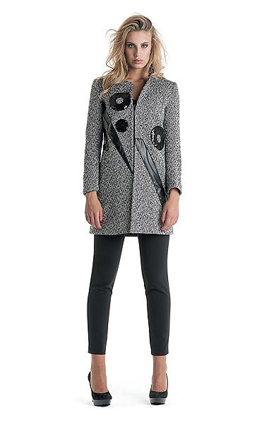 Cappotto con ricami Cannella autunno inverno 2014 2015
