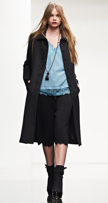 Cappotto con ricamo Twin Set autunno inverno 2014 2015