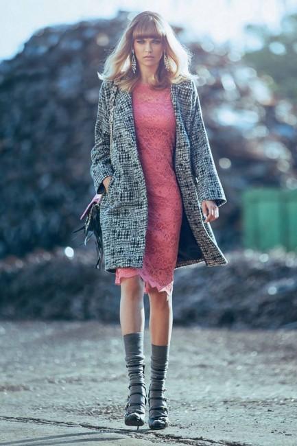 Cappotto corto Denny Rose autunno inverno 2014 2015
