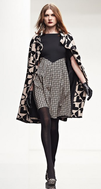 Cappotto cuori Twin Set autunno inverno 2014 2015