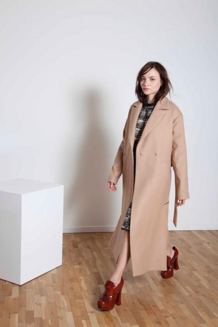 Cappotto lungo Annie P autunno inverno 2014 2015