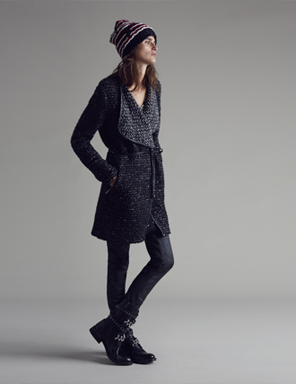 Cappotto maglia Pinko autunno inverno 2014 2015