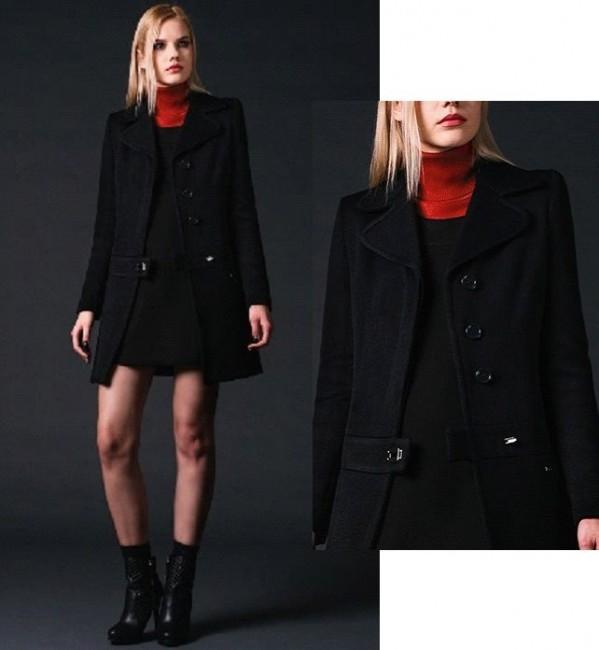 Cappotto nero Phard autunno inverno 2014 2015