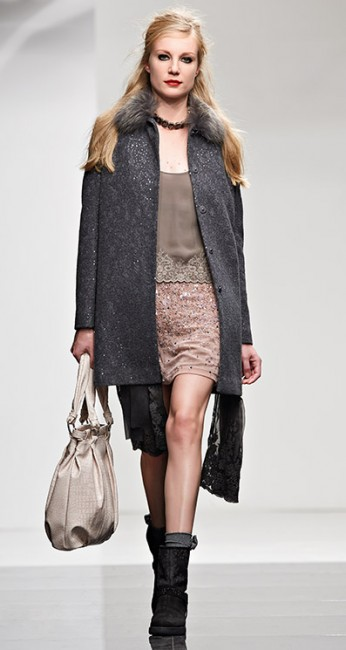 Cappotto paillettes Twin Set autunno inverno 2014 2015
