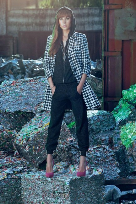 Cappotto quadri Denny Rose autunno inverno 2014 2015