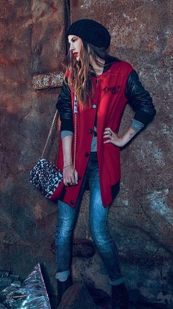 Cappotto rosso Denny Rose autunno inverno 2014 2015