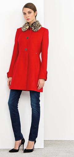 Cappotto rosso Nenette autunno inverno 2014 2015