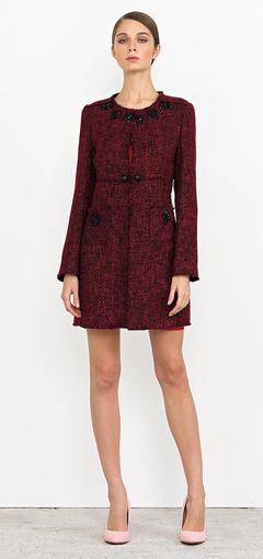 Cappotto stampato Nenette autunno inverno 2014 2015