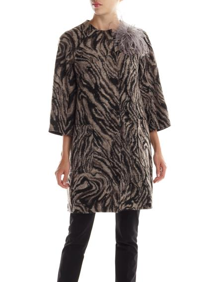Cappotto zebrato Rinascimento autunno inverno 2014 2015