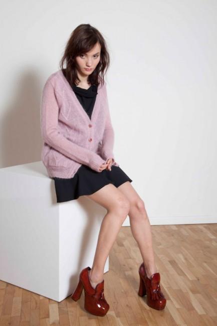 Cardigan rosa Annie P autunno inverno 2014 2015