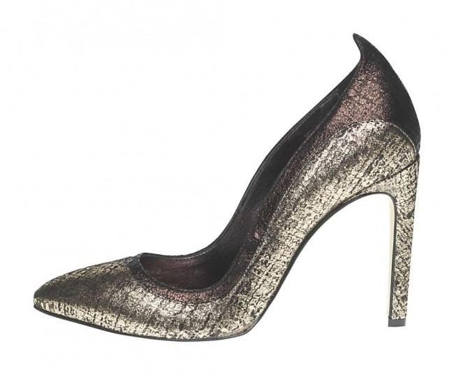 Decollete argento Fornarina scarpe autunno inverno 2014 2015