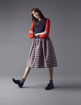 Gonna quadri Pinko autunno inverno 2014 2015