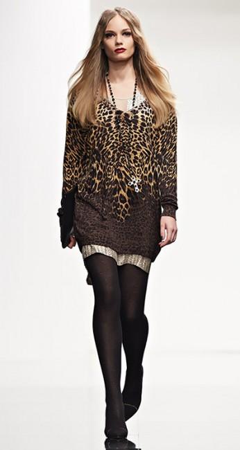 Maxi maglia animalier Twin Set autunno inverno 2014 2015