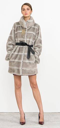 Pelliccia con cintura Nenette autunno inverno 2014 2015