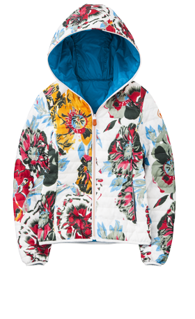 Piumino fiori Save The Duck autunno inverno 2014 2015