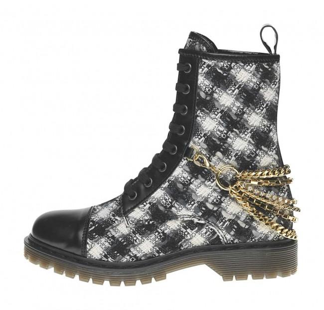 Stivaletto stampa quadri Fornarina scarpe autunno inverno 2014 2015