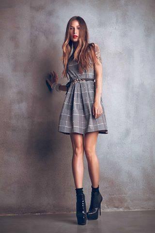 Vestito con cintura Denny Rose autunno inverno 2014 2015