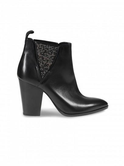 Chelsea boot con tacco neri Janet & Janet scarpe autunno inverno 2014 2015