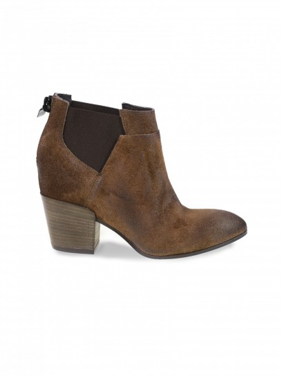 Chelsea boot in camoscio taupe Janet & Janet scarpe autunno inverno 2014 2015